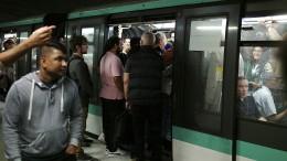Pariser Metro lahmgelegt