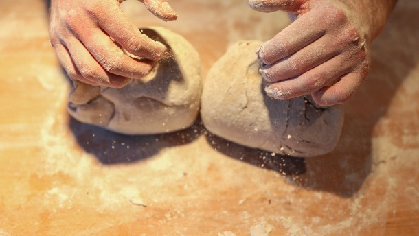 Baguette und Tarteletts