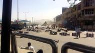 Der Tatort: ein Platz in Kabul