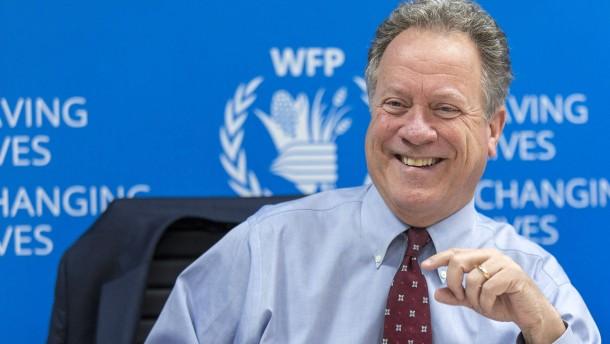 "WFP-Chef ""sprachlos"" über Friedensnobelpreis"