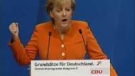 Merkel skizziert Kurs ihrer Partei