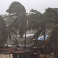 """Der Hurrikan """"Eta"""" ist mit großer Kraft über die Karibikküste von Nicaragua hinweggezogen."""