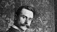 """Schriftsteller Thomas Mann (1875-1955) rechnete im Falle einer deutschen Niederlage mit einem baldigen """"Wiederherstellungskrieg"""". Aufnahme um 1900."""