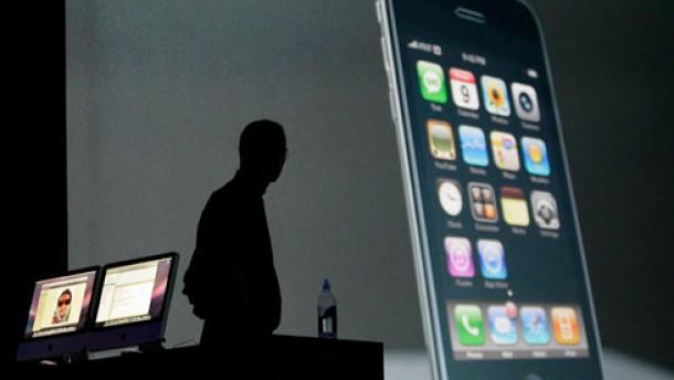 iPhone gegen Telefonzelle