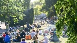 Berliner Park macht abends dicht