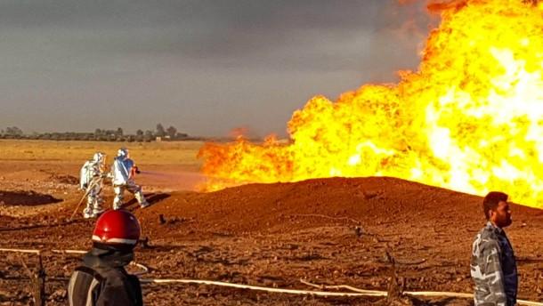 Stromausfall nach Pipeline-Explosion