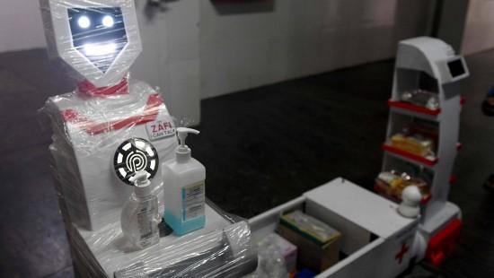 Roboter pflegen Corona-Patienten