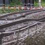 Weg waren sie: In der Nähe von Raststatt sind die Bahngleise abgesackt.