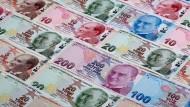 Sturz ins Bodenlose: Zum Jahresbeginn lag die türkische Währung Lira auf einem Rekordtief.