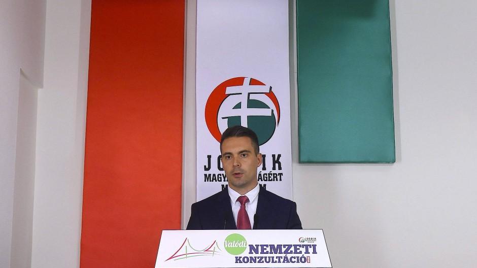 Rechter Herausforderer: Gábor Vona, Vorsitzender der Partei Jobbik