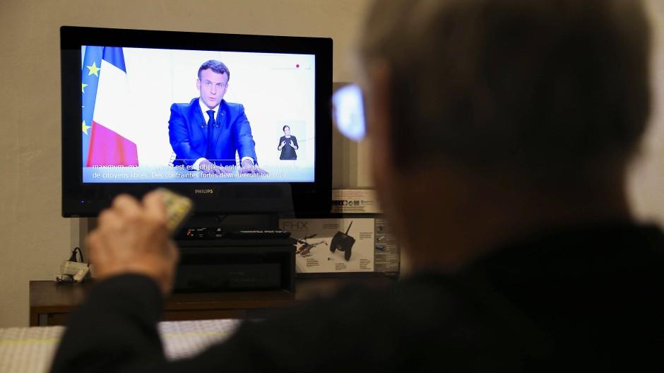 Macron bei seiner TV-Ansprache
