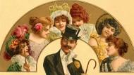 Reichtum macht attraktiv: Motiv eines begehrten Junggesellen aus dem Jahr 1902