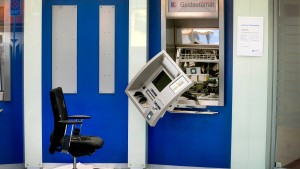 Zahl der Banküberfälle in Hessen sinkt drastisch