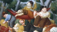 Gewalt in Kolumbien: Das Bild des alers Fernando Botero spielt im Jahr 1948 und damit in einer Epoche, bevor die marxistischen Farc in dem lateinamerikanischen Land auf der Bildfläche erschienen, mit denen Präsident Santos Frieden zu schließen versucht.