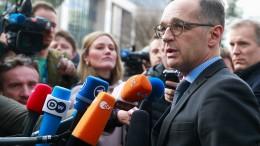 Maas kündigt Reaktion der EU an