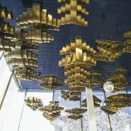 Der Frankfurter Theaterhimmel: Zoltán Keménys Wolken im 125 Meter langen und zwölf Meter hohen Foyer der Städtischen Bühnen