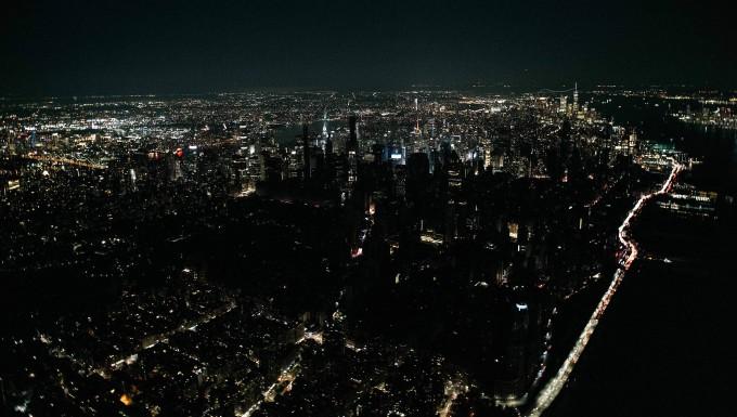 Dunkelheit in Midtown Manhattan und der Upper West Side
