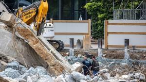 Bombenentschärfung in Frankfurt begonnen