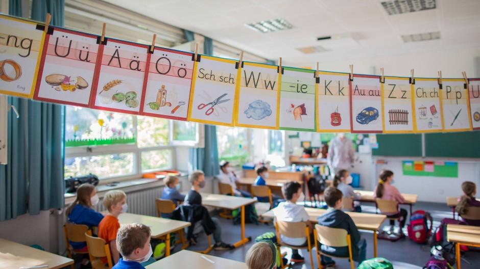 Unbedingt querlüften: Klassenzimmer in Düsseldorf