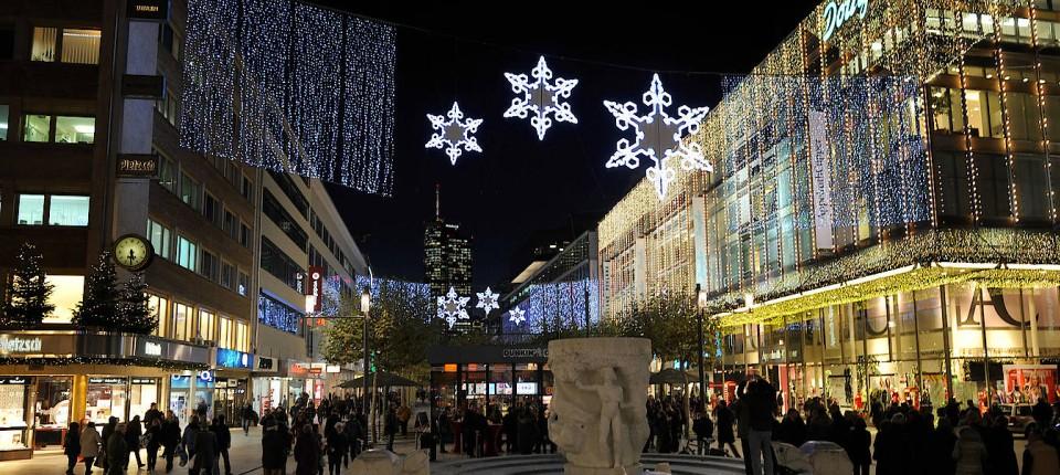 Depot Weihnachtsbeleuchtung.Frankfurts Einkaufsstraße Hat Keine Weihnachtsbeleuchtung