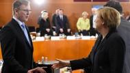 Hier zumindest verstehen sich Union und Linke prächtig: Angela Merkel (CDU) und Thüringens Ministerpräsident Bodo Ramelow (Linke).