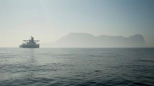 Tanker vor Abreise aus Gibraltar