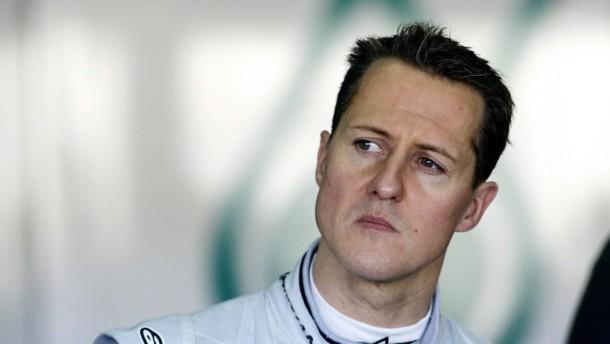 Schumacher ist sicher nicht in einem ganz top-fitten Zustand
