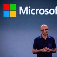 Microsoft-Chef Satya Nadella auf einem Produkt-Event in New York