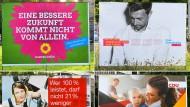Viele bunte Wahlplakate: Wo bleibt das Thema Aktie?