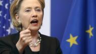 Clinton zu Gast beim EU-Parlament