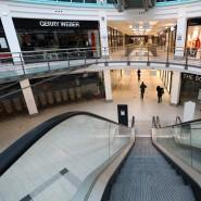 Stillstand und Leere: Ein Einkaufzentrum in einer Innenstadt.