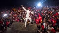 Hoffnungsträger:Der Musiker Bobi Wine bei einem Konzert in Kampala