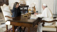 Die slowakische Präsidentin Zuzana Čaputová im vergangenen Dezember bei Papst Franziskus in Rom