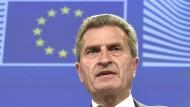 Oettinger: Deutschland hinkt bei Digitalisierung hinterher