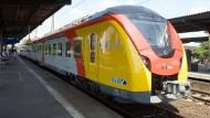Präsent im Rhein-Main-Gebiet: Züge der Hessischen Landesbahn