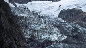 Gletscher am Mont Blanc droht abzustürzen