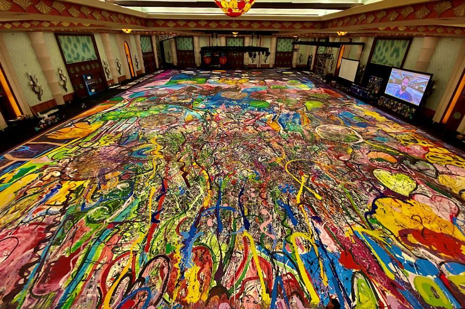 Ganz schön groß: 1800 Quadratmeter misst das Werk, das den Boden des Ballsaals im The Atlantis Hotel in Dubai bedeckt.