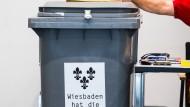 Oberhaupt für Landeshauptstadt: In Wiesbaden wählen die Bürger einen neuen Oberbürgermeister.