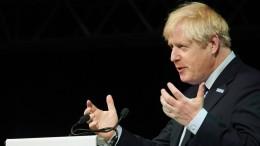 Zwischenrufer stört Johnson-Rede