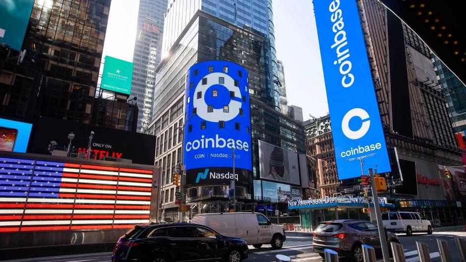 Seit Mittwoch an der Börse: Coinbase.