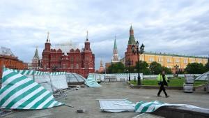 Tote und Verletzte durch Wirbelsturm in Moskau