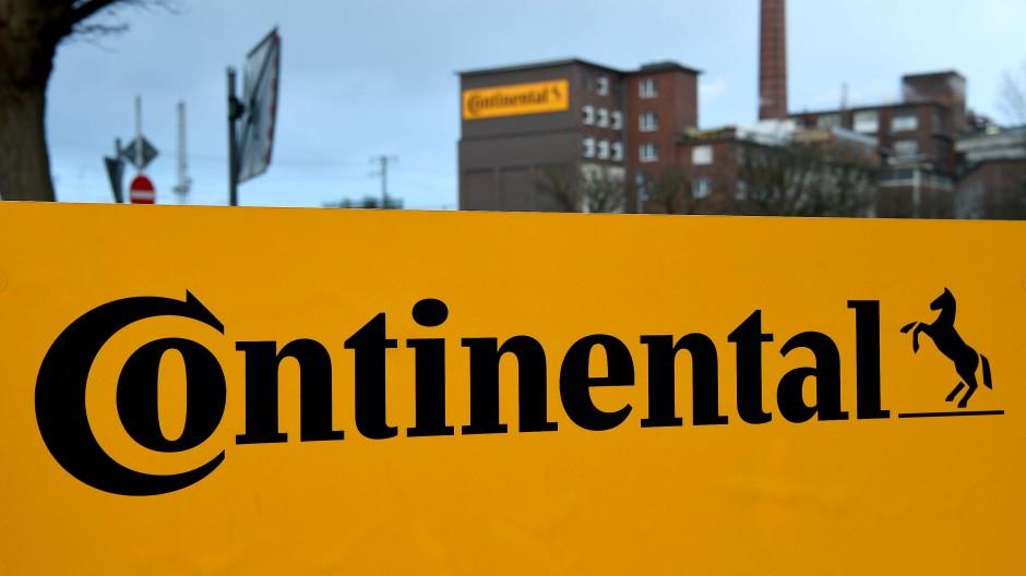 Das Logo der Reifenfirma Continental.