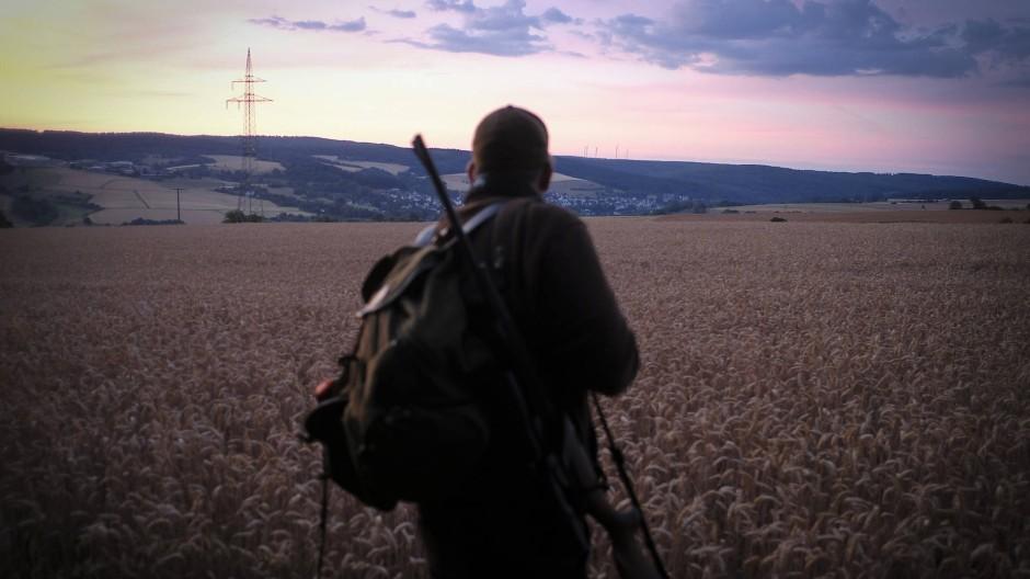 Auf einem Feld in Hessen kann der Jäger erlegen, was er selbst später essen wird.