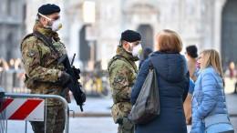 Das Coronavirus um jeden Preis von Mailand fernhalten