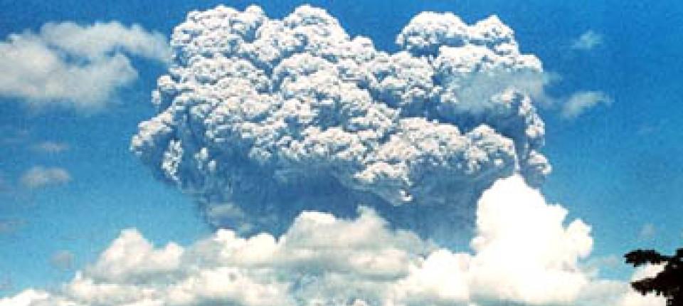 Der Ausbruch des Pinatubo auf den Philippinen am 12. Juni 1991