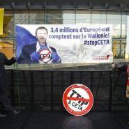 Europas Misstrauen: Das Freihandelsabkommen Ceta stößt auf viel Widerstand in der Bevölkerung.