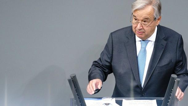 Guterres warnt vor Abschottung und Hetze