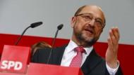 Auf der Suche nach den Ursachen der Wahl-Niederlage: SPD-Chef Martin Schulz
