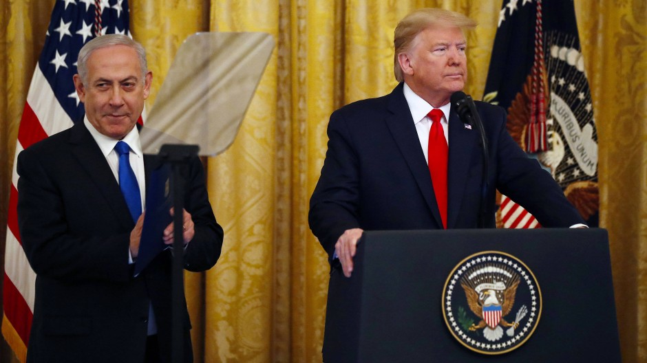 Trump und Netanjahu (links) in Washington