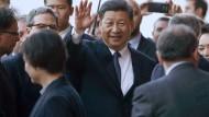 Chinas Staatschef Xi Jinping während seines Italien-Besuchs in Palermo, Sizilien